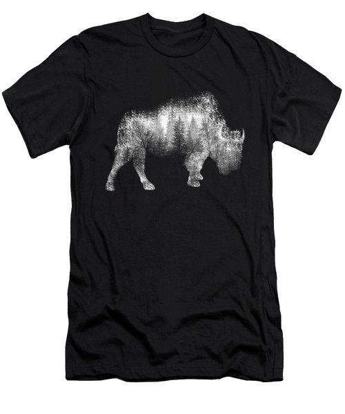 Wild Bison Men's T-Shirt (Slim Fit) by Diana Van