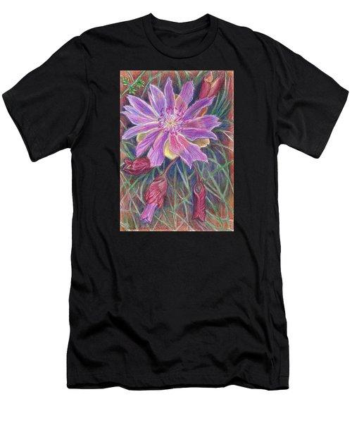 Wild Bitterroot Flower Men's T-Shirt (Athletic Fit)
