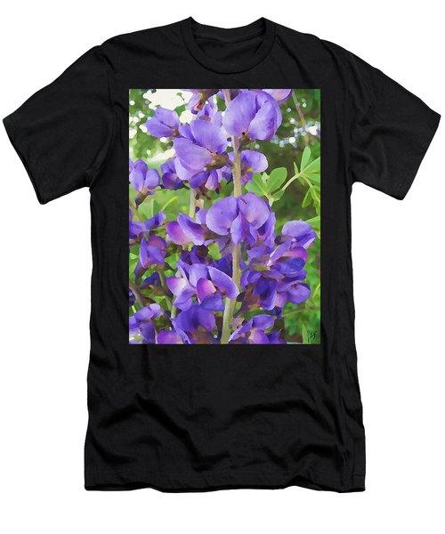 Wild Blue False Indigo Men's T-Shirt (Athletic Fit)