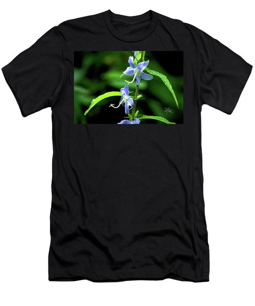 Wild Blue Flowers Men's T-Shirt (Athletic Fit)