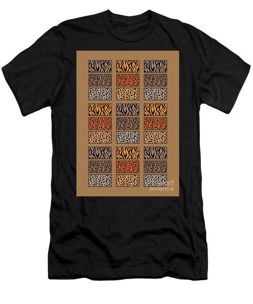 Wild Cats Patchwork Men's T-Shirt (Athletic Fit)