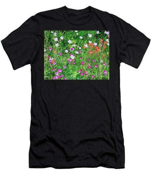 Wild Color Patch Men's T-Shirt (Athletic Fit)