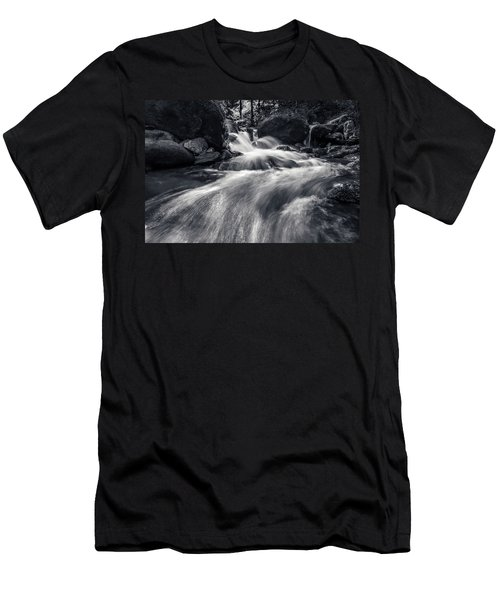 wild creek in Harz, Germany Men's T-Shirt (Athletic Fit)