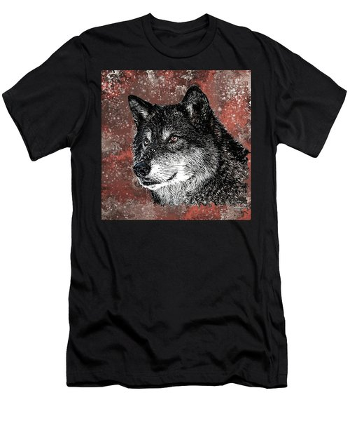 Wild Dark Wolf Men's T-Shirt (Athletic Fit)