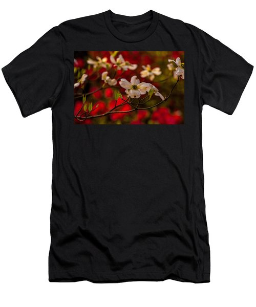 Wild Dogwood And Red Azaleas Men's T-Shirt (Athletic Fit)