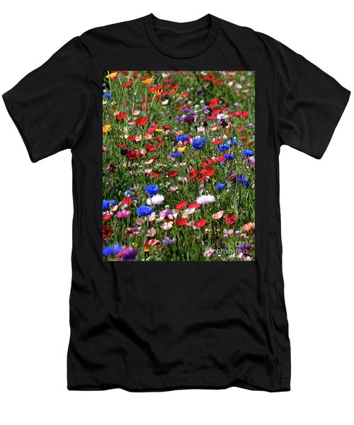 Wild Flower Meadow 2 Men's T-Shirt (Athletic Fit)