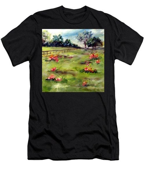 Texas Wild Flower Road Trip  Men's T-Shirt (Athletic Fit)