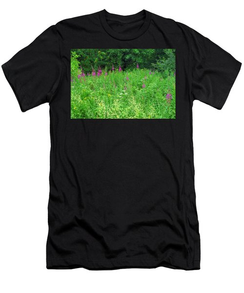 Wild Flowers And Shrubs In Vogelsberg Men's T-Shirt (Athletic Fit)