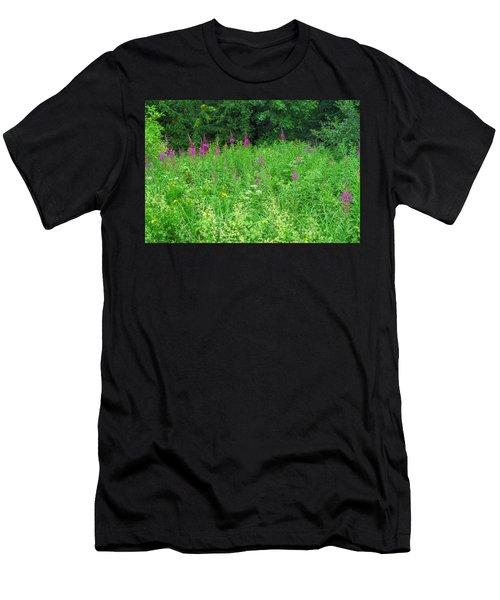 Wild Flowers And Shrubs In Vogelsberg Men's T-Shirt (Athletic Fit)