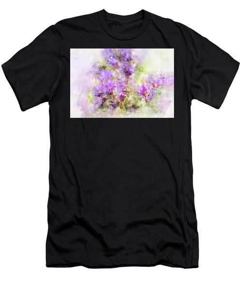 Wild Flowers In The Fall Watercolor Men's T-Shirt (Athletic Fit)