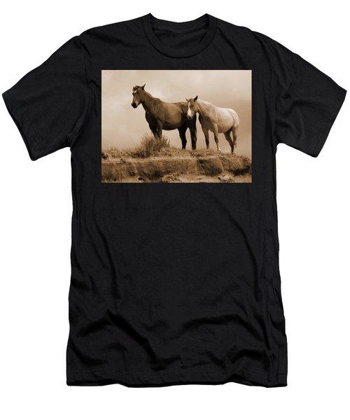 Wild Horses In Western Dakota Men's T-Shirt (Athletic Fit)