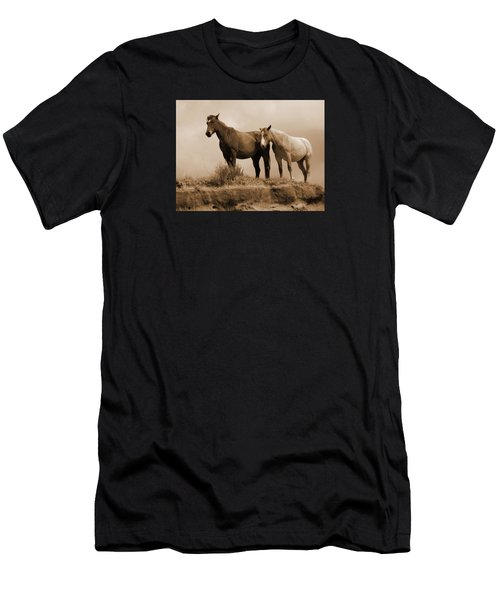 Wild Horses In Western Dakota Men's T-Shirt (Athletic Fit)