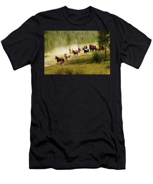 Wild Horses Men's T-Shirt (Athletic Fit)
