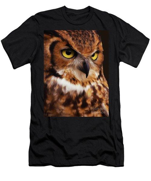 Wild Life Owls Men's T-Shirt (Athletic Fit)