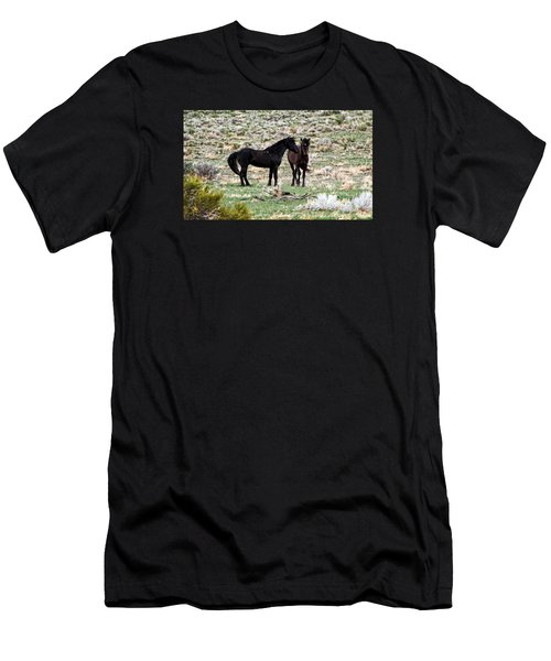Wild Mustang Stallions Men's T-Shirt (Athletic Fit)