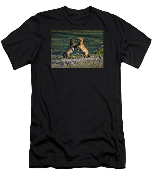 Wild Mustangs Playing 1 Men's T-Shirt (Athletic Fit)