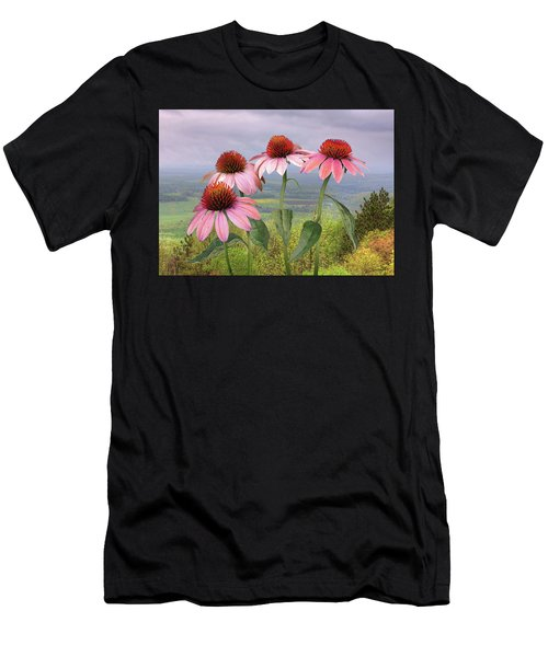 Wild Purple Coneflowers Men's T-Shirt (Athletic Fit)
