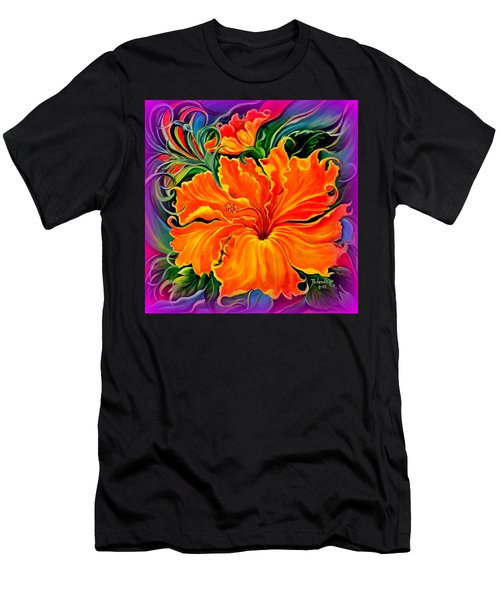 Wild Purple Hibiscus Men's T-Shirt (Athletic Fit)