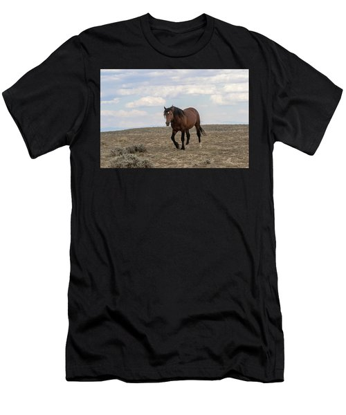 Men's T-Shirt (Athletic Fit) featuring the photograph Wild Stallion by Ronnie and Frances Howard