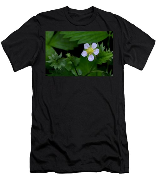 Wild Strawberry Blossom And Raindriops Men's T-Shirt (Athletic Fit)