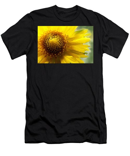 Wild Sunflower Up Close Men's T-Shirt (Athletic Fit)