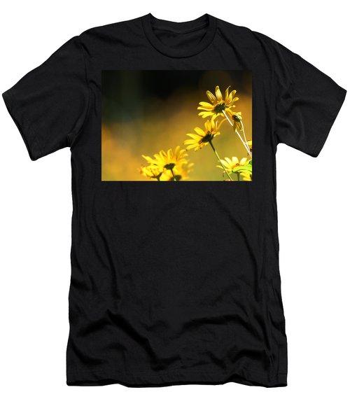 Wild Sunflowers Stony Brook New York Men's T-Shirt (Slim Fit) by Bob Savage