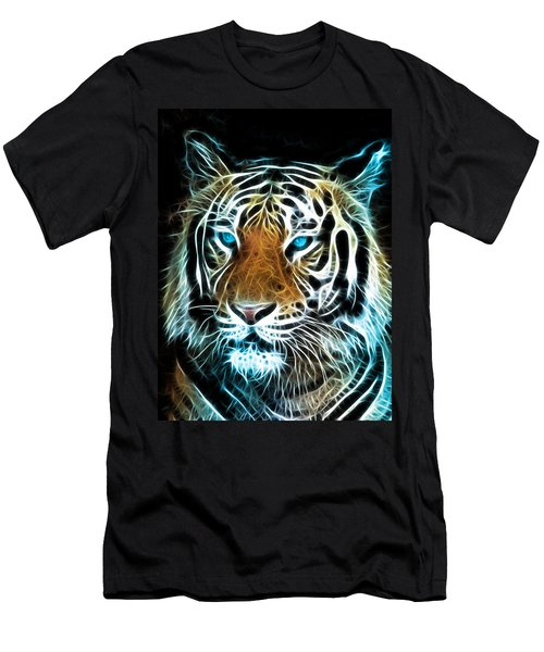 Men's T-Shirt (Slim Fit) featuring the digital art Wild Thang by Karen Showell