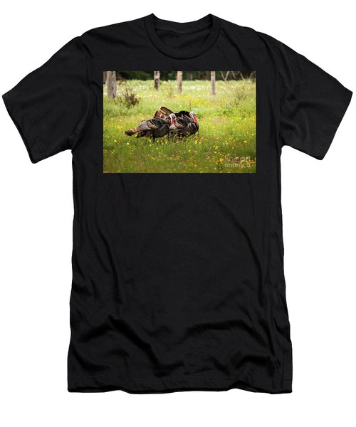 Wild Turkey's Dance Men's T-Shirt (Athletic Fit)
