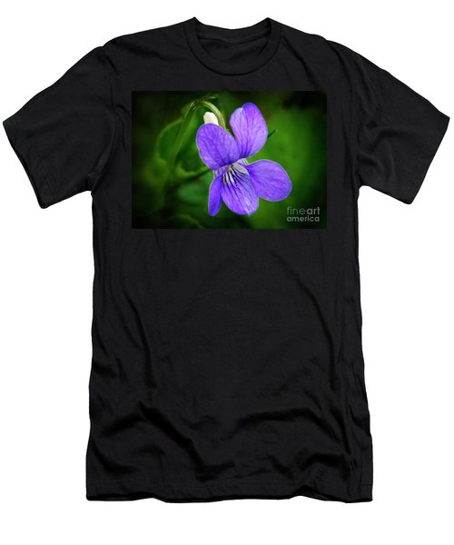Wild Violet Flower Men's T-Shirt (Athletic Fit)