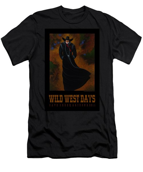 Wild West Days Poster/print  Men's T-Shirt (Slim Fit) by Lance Headlee
