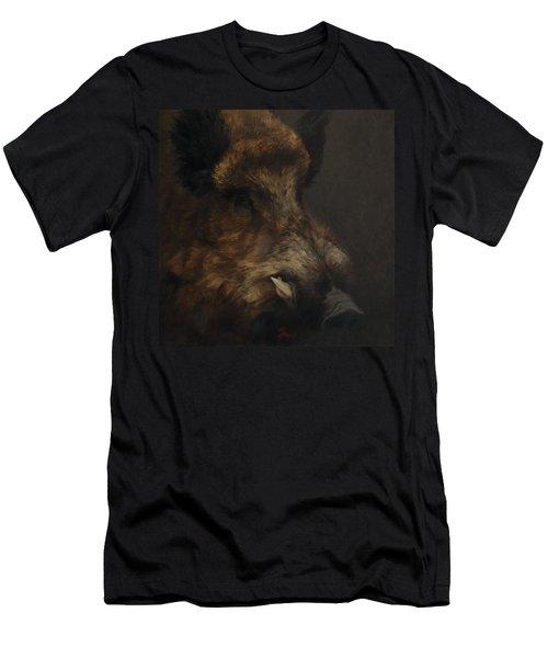 Wildboar Portrait Men's T-Shirt (Athletic Fit)