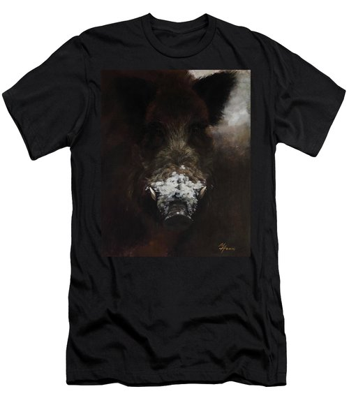 Wildboar With Snowy Snout Men's T-Shirt (Athletic Fit)