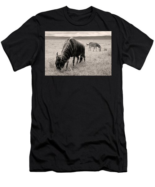 Wildebeest And Zebra Men's T-Shirt (Athletic Fit)