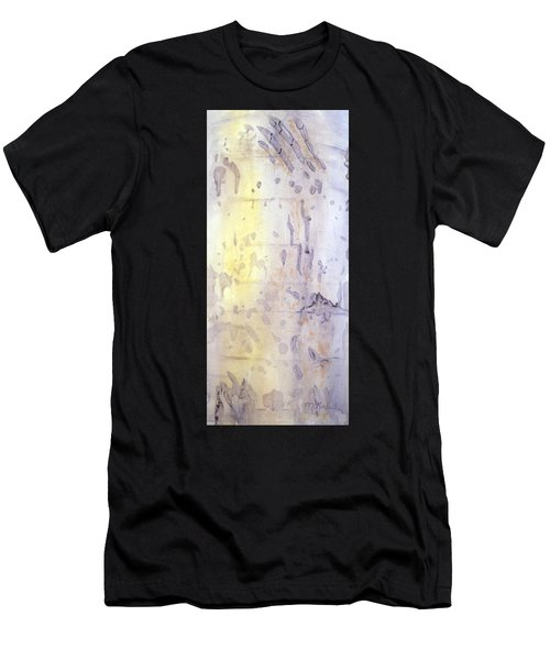 Wilderness Calligraphy - Aspen Tree Men's T-Shirt (Athletic Fit)