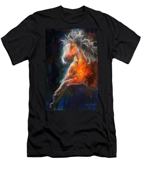 Wildfire Fire Horse Men's T-Shirt (Athletic Fit)
