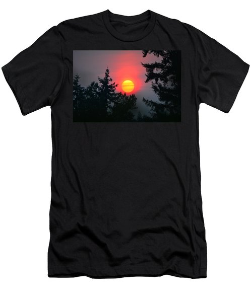 Wildfire Sunset Men's T-Shirt (Athletic Fit)