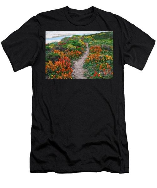 Wildflower Path At Ribera Beach Men's T-Shirt (Athletic Fit)