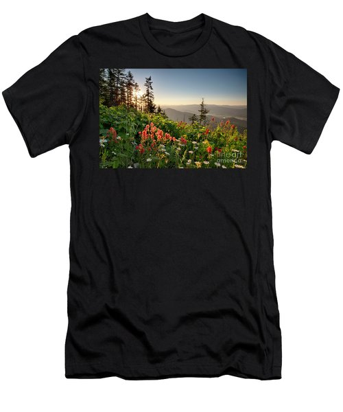 Wildflower View Men's T-Shirt (Athletic Fit)