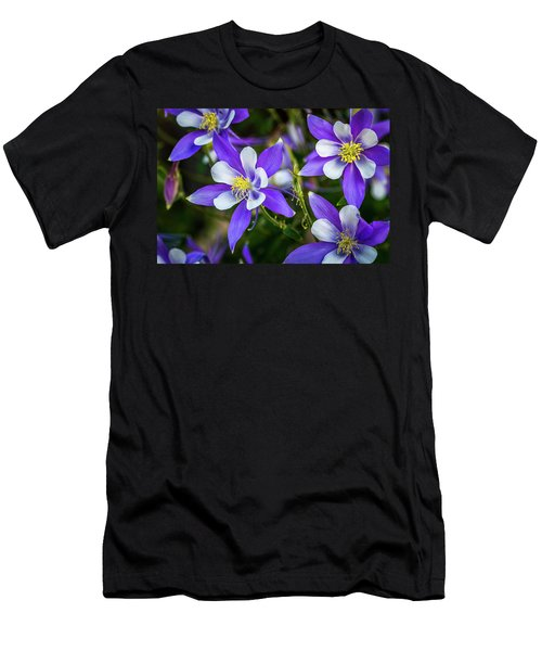 Wildflowers Blue Columbines Men's T-Shirt (Athletic Fit)