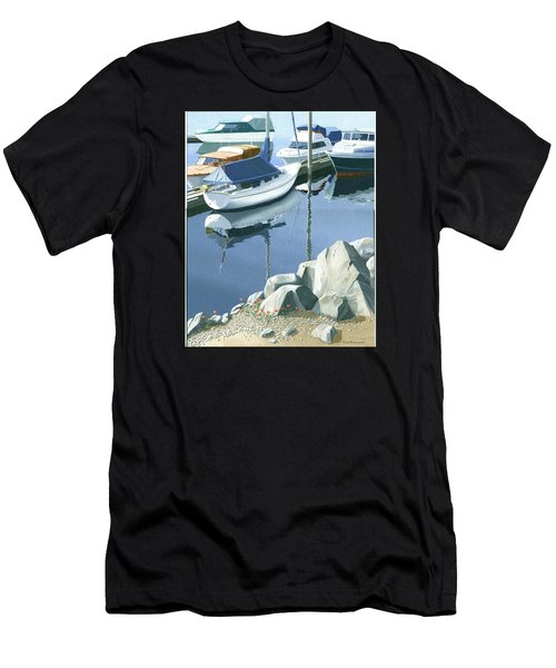 Wildflowers On The Breakwater Men's T-Shirt (Athletic Fit)