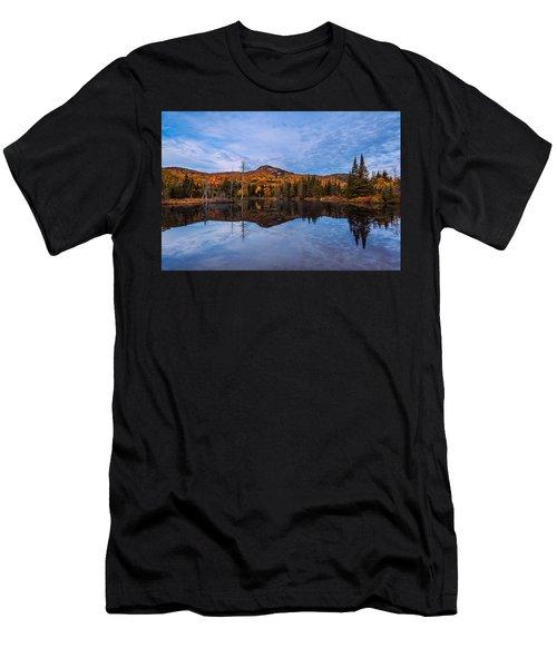 Wildlife Pond Autumn Reflection Men's T-Shirt (Athletic Fit)