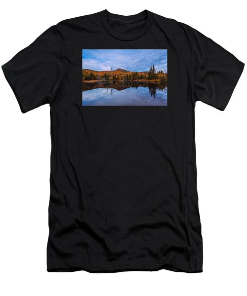 Wildlife Pond Autumn Reflection Men's T-Shirt (Athletic Fit)