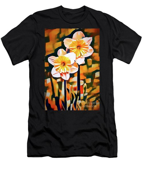 Wildly Abstract Daffodil Pair Men's T-Shirt (Athletic Fit)