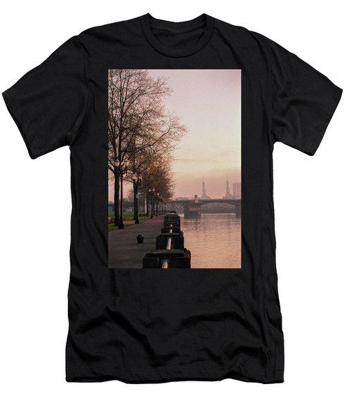 Men's T-Shirt (Athletic Fit) featuring the photograph Willamette Riverfront, Portland, Oregon by Frank DiMarco