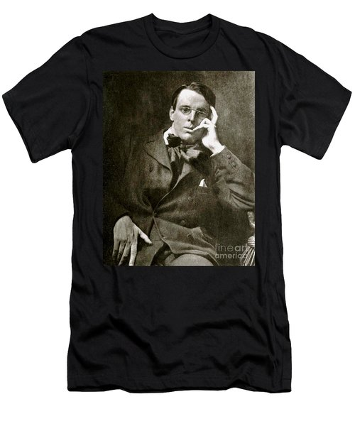 Men's T-Shirt (Slim Fit) featuring the photograph William Butler Yeats by Pg Reproductions