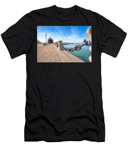 Men's T-Shirt (Slim Fit) featuring the photograph William G. Mather At Harbor by Brent Durken