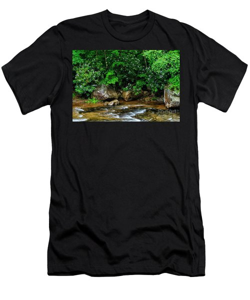 Williams River And Rhododdendron Men's T-Shirt (Athletic Fit)