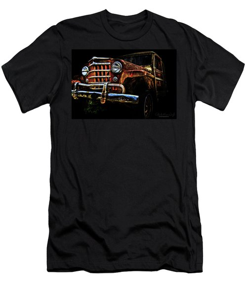 Men's T-Shirt (Athletic Fit) featuring the photograph Willy's Station Wagon by Glenda Wright
