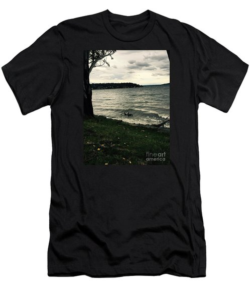 Wind Followed By Waves Men's T-Shirt (Athletic Fit)