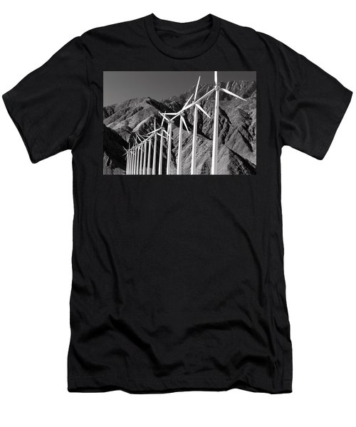 Men's T-Shirt (Athletic Fit) featuring the photograph Wind Generators by Jeff Phillippi
